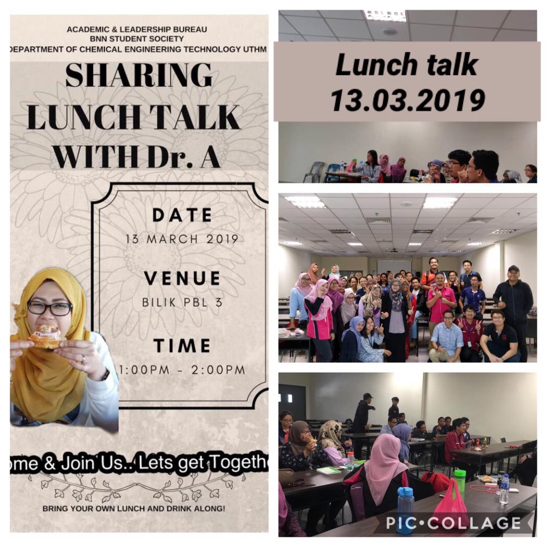 Lunch talk by Dr. Angzzas