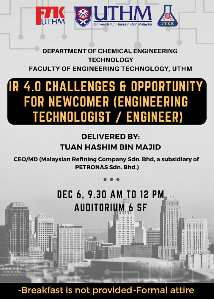 Talk by Tuan Hashim Petronas