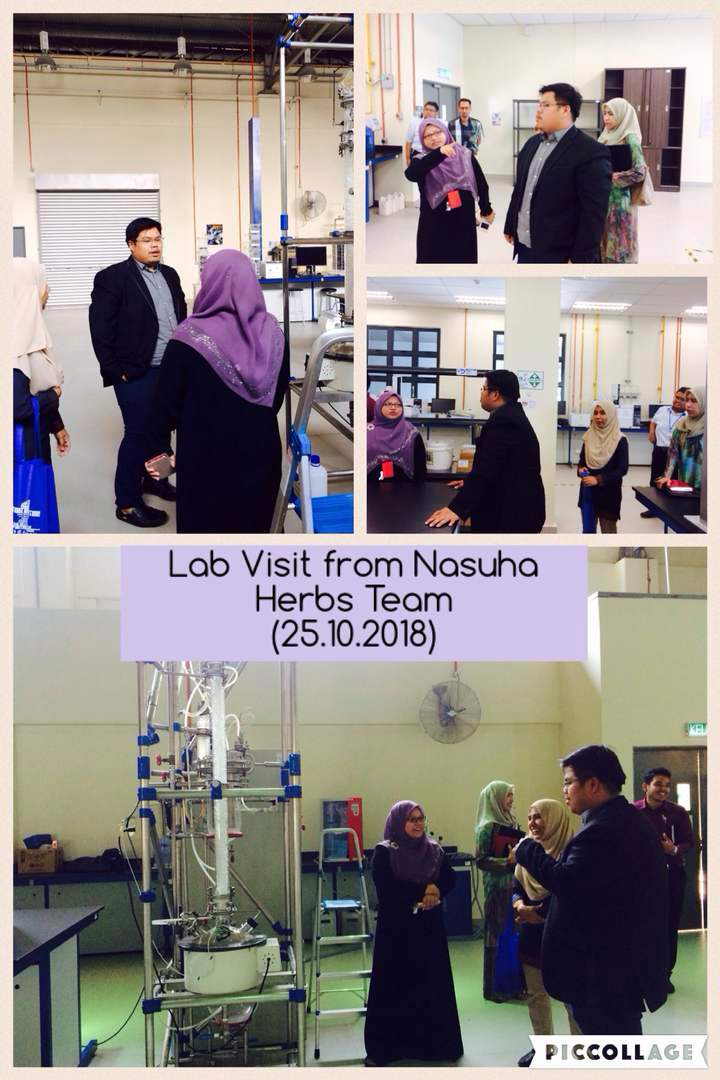 Lab Visit from Nasuha herbs Team 25.10.2018